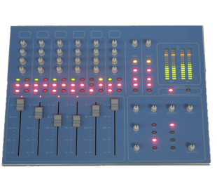Table de mixage radio - compact broadcast usb