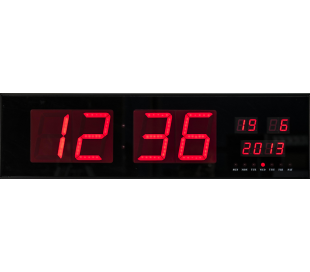 Horloge de studio a affichage led rouge rectangulaire