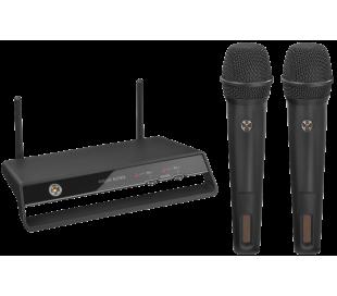 Système de microphone - 2 chaînes numériques sans fil PLL, 2,4 GHz
